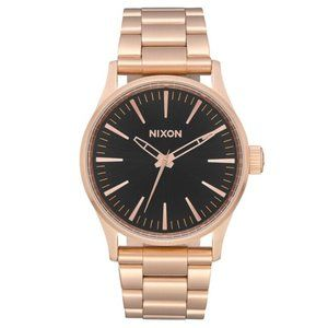 Nixon A450 Sentry 38 SS , 38 MM in Rose Gold/Black